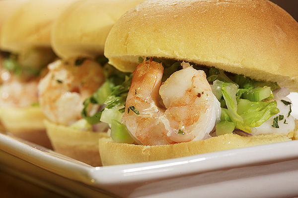 photography of shrimp salad slider for glory days grill restaurant chain in Virginia